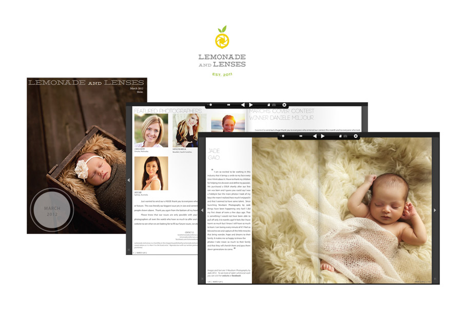 Newborn Photography by Jade Featured in Lemonade and Lenses March 2012 Newborn Issue